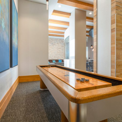 Image of shuffleboard table at Jefferson MarketPlace apartments in Washington, DC